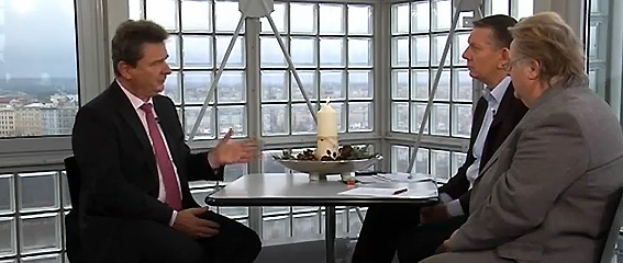 Helge Hinze und Ditmar Pauke im Interview mit Oberbürgermeister Dr. Lutz Trümper