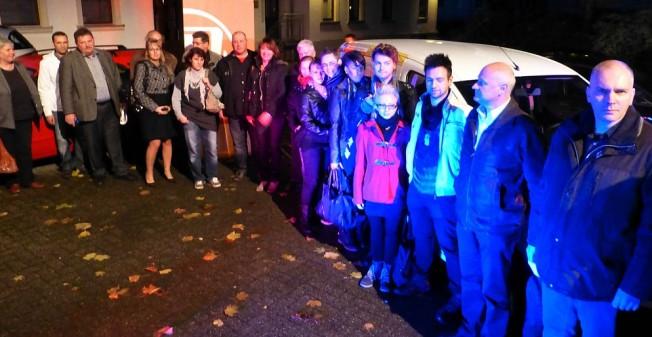 Die Sponsoren bei der feierlichen Übergabe im Innenhof des Offenen Kanals