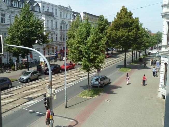 Blickrichtung: Nord-Westen (Nordwest / Olvenstedter Str.)