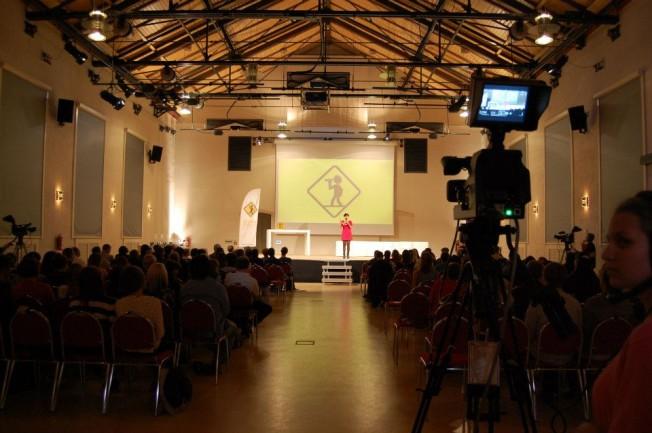 Bild von der Verleihung des 18. Jugendvideopreis im 2012